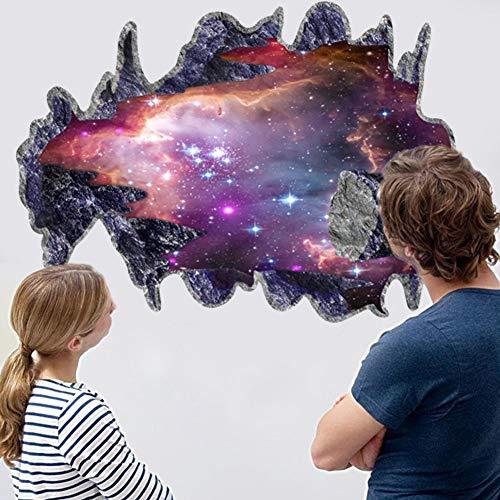 Pegatinas de pared para niños, universo azul, galaxia, planeta, para habitaciones de niños, guardería, dormitorio, decoración del hogar, calcomanías, murales