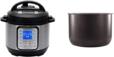Instant Pot Duo Plus Mini 9-in-1 Electric Pressure Cooker, Sterilizer, Slow Cooker, Rice Cooker, 3 Quart, 13 One-Touch Programs & Ceramic Non Stick Interior Coated Inner Cooking Pot Mini 3 Quart