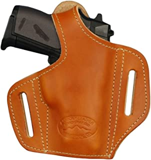 Barsony New Tan Leather Pancake Gun Holster for Mini/Pocket 22 25 32 380