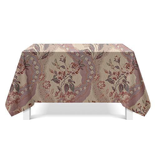 DREAMING-Gedruckte Strukturierte Stoff Tischdecken Home Esstisch Stoff Tv-Schrank Couchtisch Stoff Runde Tisch Tischset 140cm * 220cm