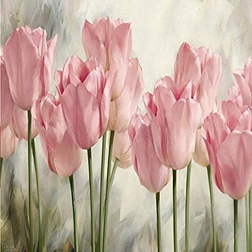 Mural papel tapiz 3D pinturas de tulipanes Fondo de TV arte de pared papel pintado pintado a ma Pared Pintado Papel tapiz 3D Decoración dormitorio Fotomural sala sofá pared mural-430cm×300cm