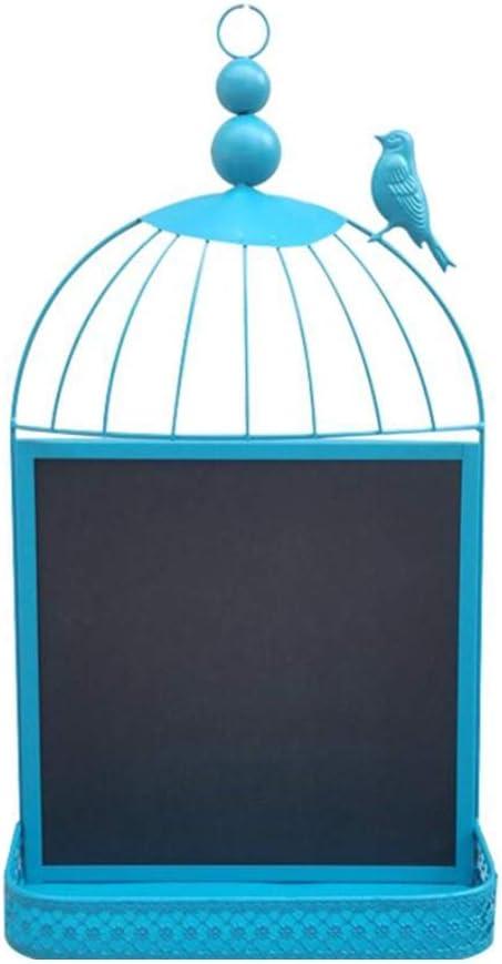 LIANGJUN Message Board Chalkboards Iron Art Birdcage Wall Mount