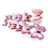 FIRMLEILEI 2021 Decorazione Vintage 12x 3D Farfalla Adesivo da Parete Frigorifero Magnete della Decor Decor Decalcomania Calamita da frigo (Color : P)
