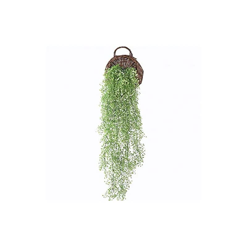 artificial hanging plants plastic fake hanging fall greenery flowers wall home outdoor indoor décor white morning flowers