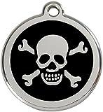 Red Dingo Médaille pour Chien Motif Tête de Mort Noir 38 mm
