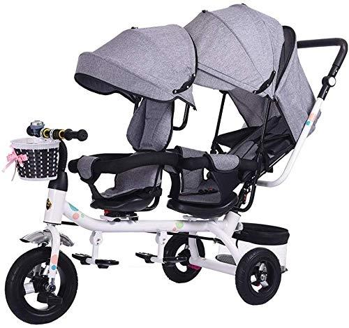 LBBHHSJ Carrozzine Passeggini Gemelli Tricicli Bambini Doppie Biciclette Gemelli Carrello per Bambini 1-7 Anni Carrozzina