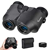 Sportneer Compact Binoculars for Adults Kids, 10x25 High Powered Binoculars with Large Eyepieces & Clear Weak Light Night Vision, Portable HD Binoculars for Birding/Hunting/Concerts/Outdoor Sports