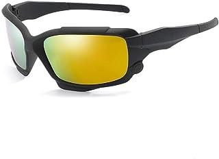 SGJFZD Full Frame Men's Polarized Sunglasses Outdoor UV400 Cycling Glasses Windshield Sunglasses (Color : Orange)