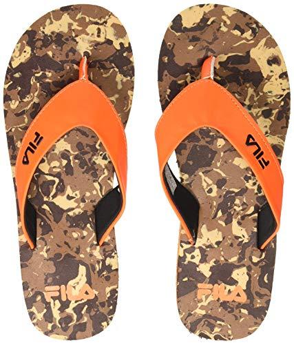 Fila Men Eedo BRN/Orange Slippers-9 UK (11007202)