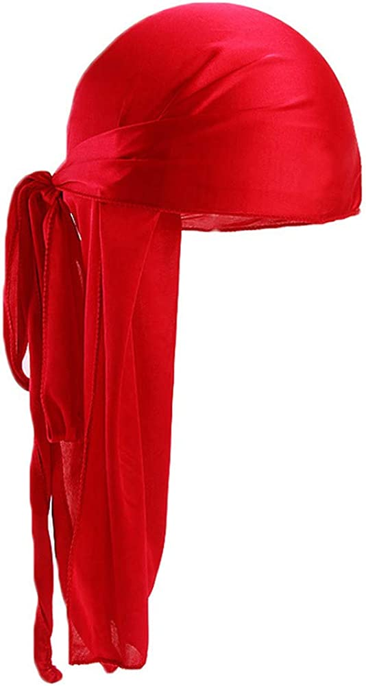 beauty YFJH Men Womens Silky Headwraps Long-Tail Ranking gift TOP17 Durag Wid Extra