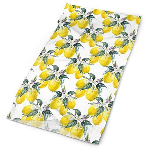 GUUi Headwear Headband Head Scarf Wrap Sweatband,Lemons Flowers Inspirational Summer Season Fruits Mother Earth Boho Pattern,Sport Headscarves for Men Women
