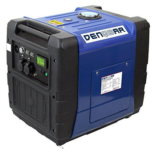 DENQBAR 5,6 kW Inverter Stromerzeuger Notstromaggregat Stromaggregat Digitaler Generator benzinbetrieben DQ5600ER mit E-Start und Funk