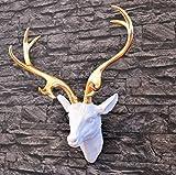 Wanddeko Hirschkopf, vergoldet mit Blattmessing - ein besonderes Geschenk