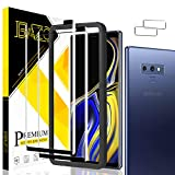 BAZO 2 Pack Tempered Glass Screen Protector for Samsung galaxy Note 9 + 2 Pack Camera Lens Protector - 3D Full Coverage - edge to edge - Anti-Scratch - HD Clear - 9H Hardness - Case Friendly