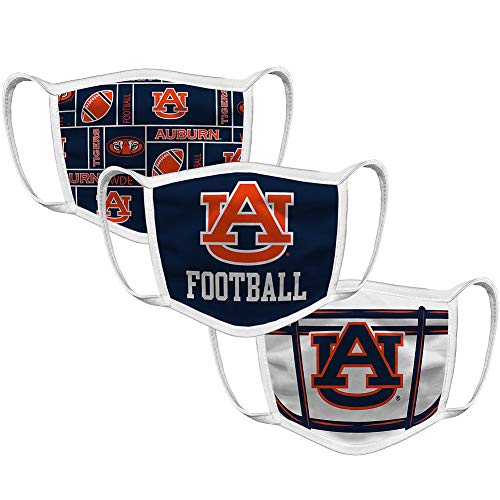 Auburn Tigers Retro Face Covering 3-Pack Football - Navy