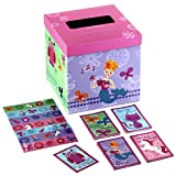 Hallmark Girls' Valentines Day Cards for Kids and Mailbox for Classroom Exchange, Unicorn and Friends (1 Box, 32 Valentine Cards, 35 Stickers, 1 Teacher Card)