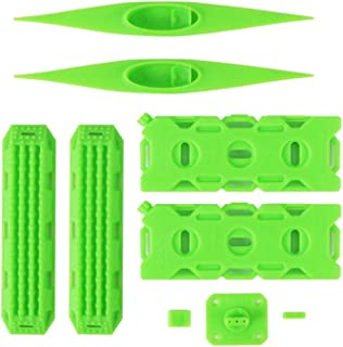 Fuel Tank Kayak Sand Ladder Recovery-Board For 1/10 Trx4 Scx10 D90 Rc Car Decor Universal 1/10 Trx4 Axial Scx10 Cc01 D90 Climbing Car Mood Decoration Parts Fuel Tank Kayak Sand Board Set Green