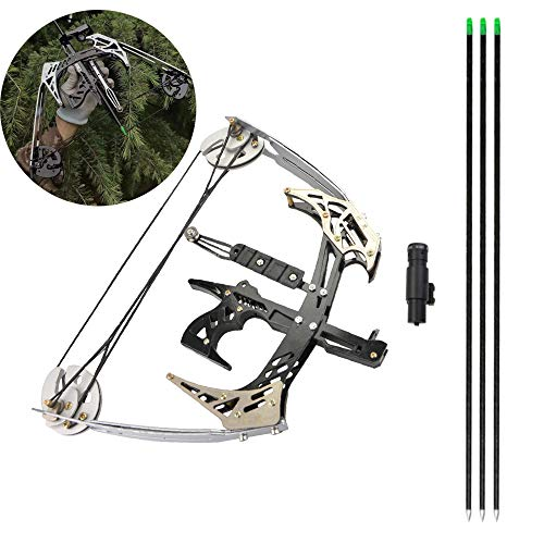 MILAEM Archery Compound Bow and Arrow Kits 25 Lbs Mini Compound Bow Right and Left Hand Bow for Outdoor Hunting Shooting
