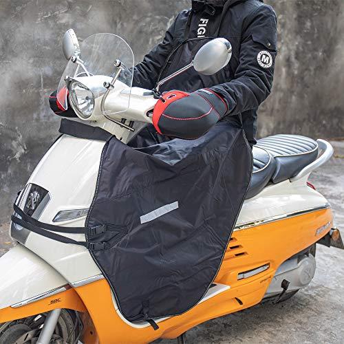 Beinschutz Beinabdeckung Roller, Universaler Wetterschutz Nässeschutz mit Kälteschutz Reflexstreifen für Rollerfahrer, Wasserdicht Winddicht