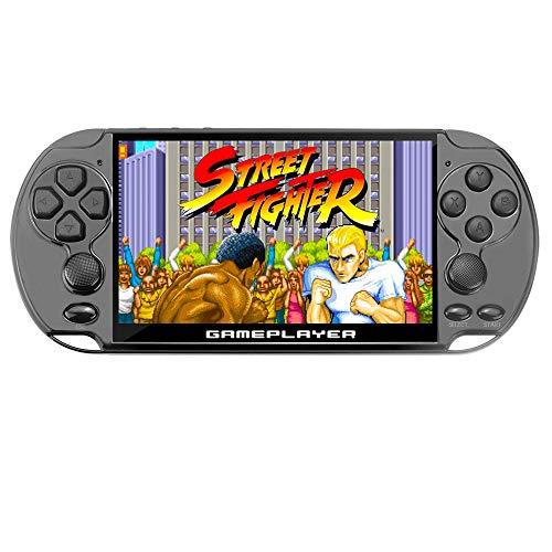 New 5.1 inch 16GB 128Bit Retro Handheld Video Game Console Built-in 3000 Games for Arcade NEOGEO/CPS/FC/NES/SFC/SNES/GB/GBC/GBA/SMC/SMD/SEGA Handheld Game Console mp3/4 (Black)