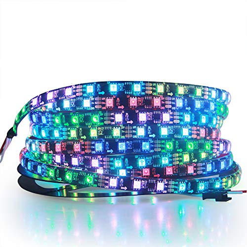 ALITOVE RGB Addressable LED Strip WS2811 12V LED Strip Lights 16.4ft 300 LEDs Dream Color Programmable Digital Flexible LED Pixel Rope Light Waterproof IP65 with 3M VHB Heavy Duty Self-Adhesive Back