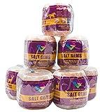 SALT GEMS 8 Pack Pure Natural Pink Himalayan Rock Salt Block Licks on a Rope for Animals, ...