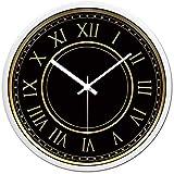 Reloj cocina pared Reloj de pared de la oficina número romano reloj de pared mudo del reloj de la sala dormitorio del reloj de cuarzo Negro Simple Home 12 pulgadas 14 pulgadas Reloj Cocina Casa Compra