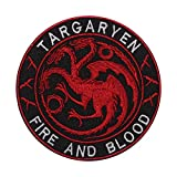 Parche bordado de la película de Juego de Tronos de Targaryen, para coser o planchar, para ropa, camisas, vaqueros, etc.
