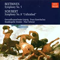 Symphony No 5 & Symphony No 8 Unfinished by Beethoven (2008-11-24)