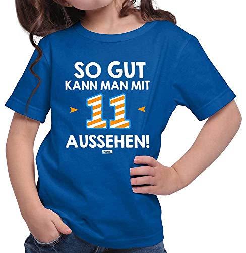 Hariz – Camiseta para niña con texto en alemán «So Gut Kann Man mit Elf Aussehen 11 Geburtstag Zahlen Plus», tarjeta de regalo azul real 152 cm(12-13 År)