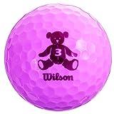 Wilson(ウイルソン) ゴルフボール BEAR3 1ダース 12個入り ラベンダー