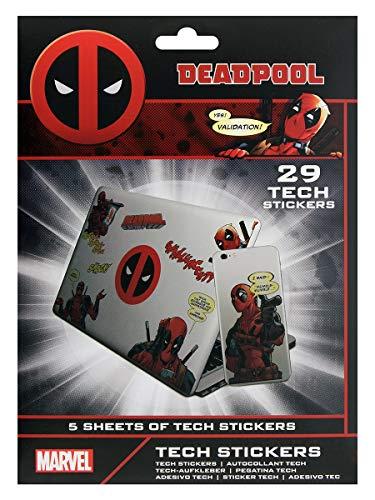 Marvel Set 29 Aufkleber Deadpool, TS7408, Mehrfarbig