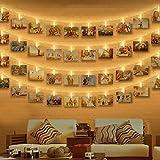 Clip Cadena de Luces LED, otumixx 40 Fotoclips 4,2M Foto Clips Cadena de luces...