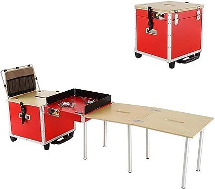N\A Mesa De Cocina Plegable Estación De Cocción Portátil Al ...