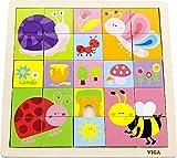 VIGA Puzzle de madera con diseño de insectos
