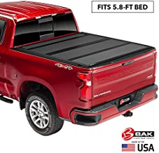 BAK BAKFlip MX4 Hard Folding Truck Bed Tonneau Cover | 448130 | Fits 2019-20 New Body Style GM Silverado, Sierra 1500, Will not fit Carbon Pro Bed 5'8