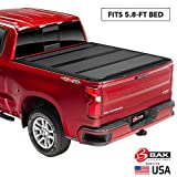BAK BAKFlip MX4  Hard Folding Truck Bed Tonneau Cover | 448130 | Fits 2019-20 New Body Style GM Silverado, Sierra 1500, Will not fit Carbon Pro Bed 5'8' Bed