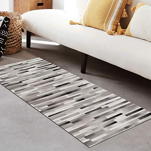 QIANGZI Alfombra de pasillo antideslizante por metros, de poliéster negro, no se decolora, para cocina, para dormitorio, pasillo y pasillo (tamaño: 100 × 250 cm, color: uno)