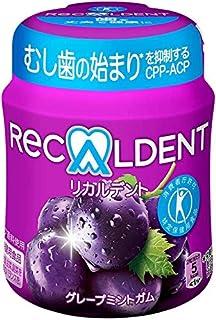 【トクホ】モンデリーズ・ジャパン リカルデントグレープミントガム ボトルR 140g ×6個