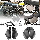 Lorababer Moto XSR 700 Protezione della protezione Telaio superiore Riempimento laterale Copertura Carena Pannello Rivestimento della calandra per Yamaha XSR700 2016 2017 2018 2019 2020 (Nero)
