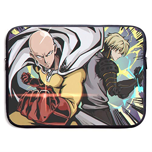 Anime ONE Punch Man Convenient Large Capacity Laptop Bag Tablet Protective Bag Cute Fun and Exquisite Print(13 Inch 15 Inch)13 inch