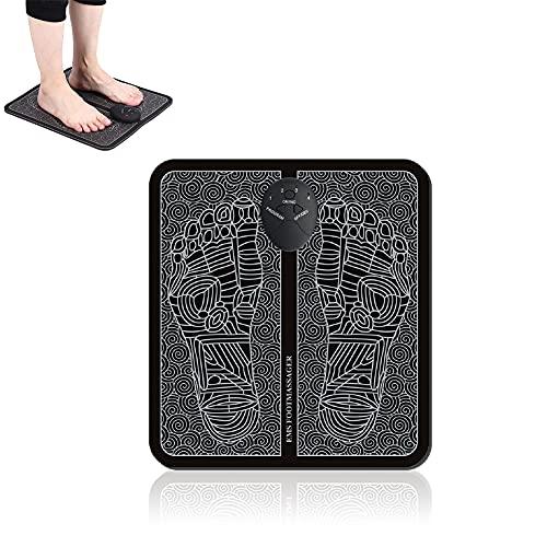 Fußmassageräte, EMS Fussmassagegerät Elektrisch, Intelligente Fußmassagerät für Entspannung, 6 Modis elektrische fußmassagegeräte Tragbare Massagematte für die Durchblutung Muskelschmerzen (Style 1)