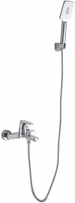 YFF@ILU Dusche, Dusche, warmes und kaltes Wasser, Kupfer Krper dusche Wasserhahn an der Wand montiert