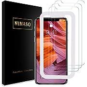 【3枚セット】Nimaso iPhoneXS Max 6.5 インチ 用 強化ガラス液晶保護フィルム【ガイド枠付き】 【日本製素材旭硝子製】(アイフォン xs max 用)