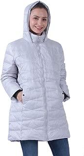 Common District Womens Down Jackets, Hooded Lightweight Long Winter Puffer Coats XS-4XL