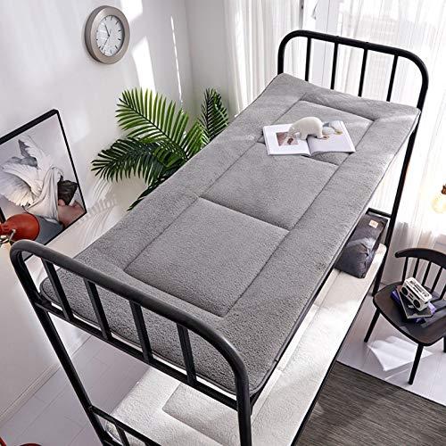 ZUSFUL Dormitorio Estudiantes Colchón para Soltero Alfombrilla de Tatami para Futón Colchonetas para Dormir para el Suelo Colchón de Sofás Dormitorio 90×190cm,Gris,90×190cm