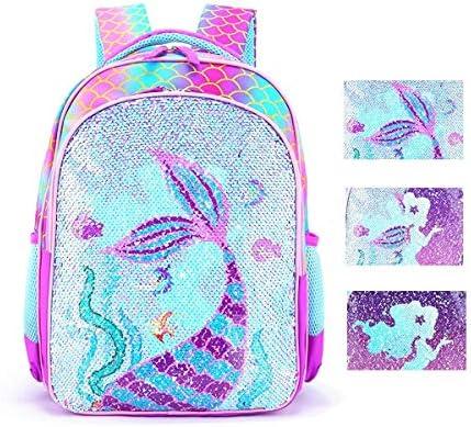 Reversible Sequin School Backpack Lightweight Little Kid Book Bag for Preschool Kindergarten product image