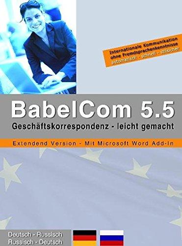 Babelcom Extended Russisch, CD-ROMs Deutsch-Russisch / Russisch-Deutsch. Multlinguale Kommunikation leicht gemacht