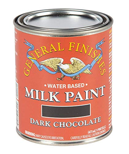 General Finishes Water Based Milk Paint, 1 Pint, Dark Chocolate