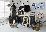 Cama alta con tobogán, escondite, carpa, túnel y torre, de la marca Noa & Nani
